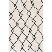 Surya Biscayne Global 659 2-Foot x 3-Foot Accent Rug in White