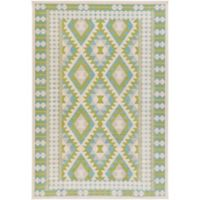 Surya Ayomide Southwest 2-Foot 2-Inch x 4-Foot Accent Rug in Green/Blue