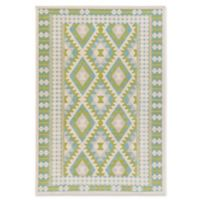 Surya Ayomide Southwest 5-Foot 3-Inch x 7-Foot 6-Inch Area Rug in Green/Blue