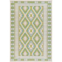 Surya Ayomide Southwest 7-Foot 10-inch x 10-Foot 6-Inch Area Rug in Green/Blue