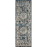 Surya Marella Classic 2-Foot 7-Inch x 7-Foot 7-Inch Runner in Navy