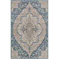 Surya Calput Large Medallion 2-Foot x 3-Foot Accent Rug in Taupe/Blue