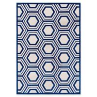 Surya Covina Geometric 5-Foot 2-Inch x 7-Foot 6-Inch Area Rug in Dark Blue