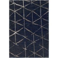 Surya Solaris Global 7-Foot 10-Inch x 10-Foot 10-Inch Area Rug in Dark Blue