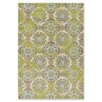 Surya Ayomide Medallions and Damask 5-Foot 3-Inch x 7-Foot 6-Inch Area Rug in Green