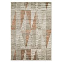 Surya Ladeen Triangle Geo 5-Foot 2-Inch x 7-Foot 6-Inch Area Rug in Burnt Orange
