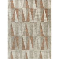 Surya Ladeen Triangle Geo 7-Foot 6-Inch x 10-Foot 6-Inch Area Rug in Burnt Orange