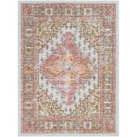 Surya Dynine 3-Foot 11-Inch x 5-Foot 7-Inch Area Rug in Coral/White