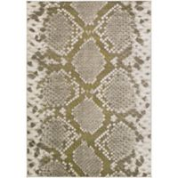Ladeen Animal 2-Foot 2-Inch x 3-Foot Accent Rug in Light Grey