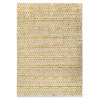 Ladeen Geometric 5-Foot 2-Inch x 7-Foot 6-Inch Area Rug in Burnt Orange