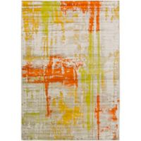 Ladeen Modern66 2-Foot 2-Inch x 3-Foot Accent Rug in Orange/Yellow