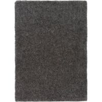 Surya Sven 2-Foot x 3-Foot Shag Accent Rug in Charcoal