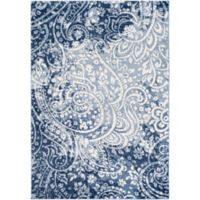 Surya Solaris Floral & Paisley 2-Foot x 3-Foot 3-Inch Accent Rug in Dark Blue