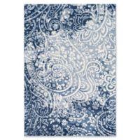 Surya Solaris Floral & Paisley 5-Foot 3-Inch x 7-Foot 6-Inch Area Rug in Dark Blue