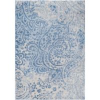 Surya Solaris Floral & Paisley 7-Foot 10-Inch x 10-Foot 10-Inch Area Rug in Blue