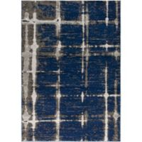 Surya Solaris Modern 2-Foot x 3-Foot 3-Inch Accent Rug in Dark Blue