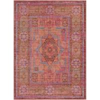 Surya Dynine Center Medallion Border 2-Foot x 3-Foot Accent Rug in Pink