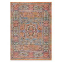 Surya Dynine Center Medallion Border 5-Foot 3-Inch x 7-Foot 6-Inch Area Rug in Saffron