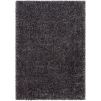 Surya Aynwild Solid Shag 2-Foot x 3-Foot Accent Rug in Charcoal