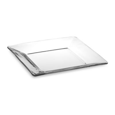 Libbey® Tempo 10-Inch Square Glass Dinner Plate  sc 1 st  Bed Bath \u0026 Beyond & Buy Square Clear Glass Dinnerware Sets from Bed Bath \u0026 Beyond