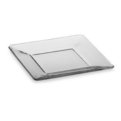 Libbey® Tempo 8-Inch Square Glass Salad Plate  sc 1 st  Bed Bath \u0026 Beyond & Buy Square Clear Glass Dinnerware Sets from Bed Bath \u0026 Beyond