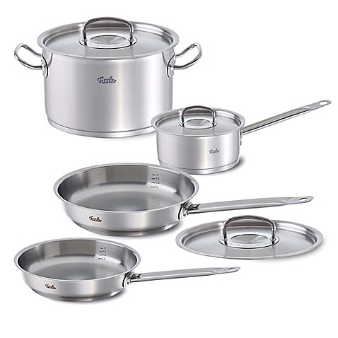 fissler original profi 7 piece stainless steel cookware set bed bath beyond. Black Bedroom Furniture Sets. Home Design Ideas