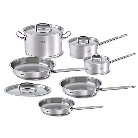 fissler original profi 10 piece stainless steel cookware set bed bath beyond. Black Bedroom Furniture Sets. Home Design Ideas