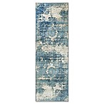 nuLOOM Traces Vintage Lindsy 2-Foot 8-Inch x 7-Foot 11-Inch Runner in Blue