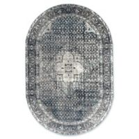 nuLOOM Traces Vintage Kellum 5-Foot 11-Inch x 9-Foot Rounded Area Rug in Blue