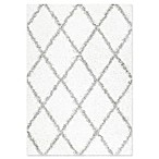 nuLOOM Shanna Shaggy 7-Foot 10-Inch x 10-Foot Area Rug in White