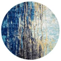 nuLOOM Katharina 8-Foot Round Area Rug in Blue