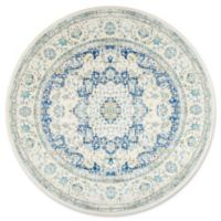 nuLOOM Bodrum Verona 5-Foot Round Area Rug in Blue