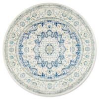 nuLOOM Bodrum Verona 7-Foot 10-Inch Round Area Rug in Blue