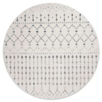 nuLOOM 5-Foot Bodrum Round Area Rug in Grey