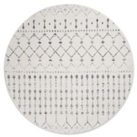 nuLOOM 8-Foot Bodrum Round Area Rug in Grey