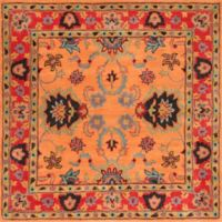 nuLOOM Remade Montesque 8-Foot Square Area Rug in Orange