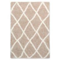 Surya Aynwild Diamond Trellis Shag 7-Foot 10-Inch x 10-Foot Area Rug in Tan/White