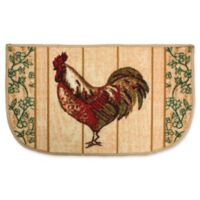 J&M Home Fashions 18-Inch x 30-Inch Rooster Kitchen Slice Rug