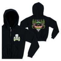 Monster Jam® Crossbones Size 2T Full-Zip Hoodie in Black