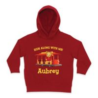 "Daniel Tiger's Neighborhood™ Daniel Tiger ""Ride Along with Me!"" Size 4T Pullover Hoodie in Red"