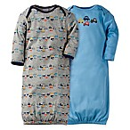 Gerber®  Size 0-6M 2-Pack Cars Gowns