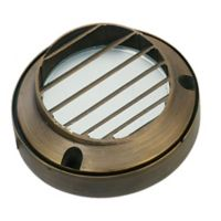Best Quality Lighting Venice 1-Light Low-Voltage Step Light in Antique Bronze with Glass Shade
