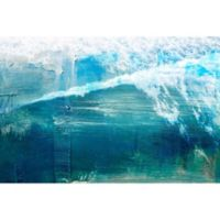 Parvez Taj White Splashing Surf 36-Inch x 24-Inch Wall Art