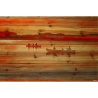 Parvez Taj Lake Lavielle 45-Inch x 30-Inch Pinewood Wall Art