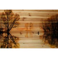 Parvez Taj Glass Lake 36-Inch x 24-Inch Pine Wood Wall Art