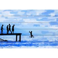Parvez Taj Feet First 24-Inch x 16-Inch Pinewood Wall Art