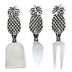Boston International Pineapple 3-Piece Cheese Knife Set