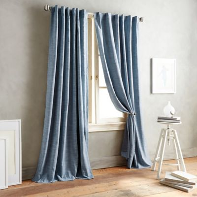 Buy Indigo Curtain Panels From Bed Bath Beyond - Curtains for 3 windows in a row