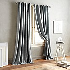 DKNY Front Row 84-Inch Back Tab Window Curtain Panel in Charcoal