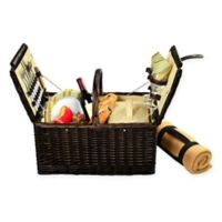 Picnic at Ascot Surrey Picnic Basket for 2 with Blanket in Yellow